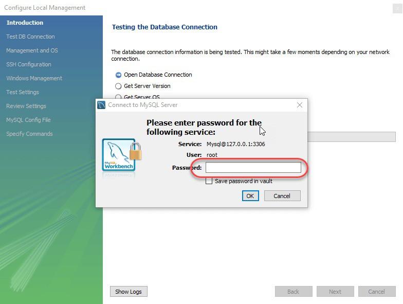 Cửa sổ pop up yêu cầu mật khẩu