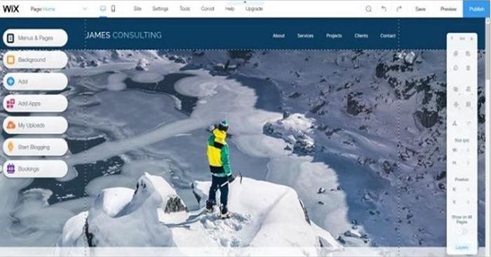 Thiết kế website với công cụ kéo thả