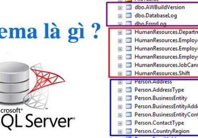 Schema là gì? Schema đóng vai trò quan trọng trong sql server